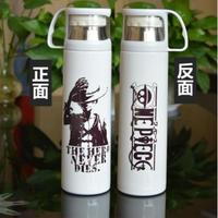 ワンピース ステンレスボトル カップ付き 魔法瓶 水筒 500mml ルフィ ONE PIECE ホワイト ブラック