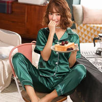 レディース シルク パジャマ 半袖 オシャレ 快眠 寝巻き 部屋着 Ver.3