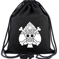 ワンピース ONE PIECE ビーム巾着 ナップザック 収納バッグ スペード海賊団