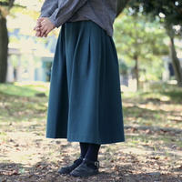 ⚪︎+5cm丈⚪︎藍染スカート    (備後節織)藍緑