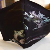 0-2 Vintage KIMONO MASK  (Vintage kimono babbling stream mask  series number 1 )