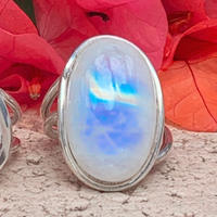 "Naho様 売約済み Dream Rainbow moonstone jewelry "" ĀNELA """