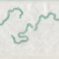 大山日歩 《新興の園地・ドローイング01》