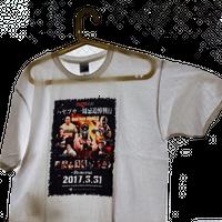 ハヤブサ一周忌追悼興行記念Tシャツ ポスタータイプ