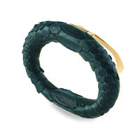 ARDU SCARF RING  GREEN パイソン