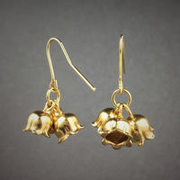 Lily of the valley's earring(18KGP) 鈴蘭ピアス(18KGP)