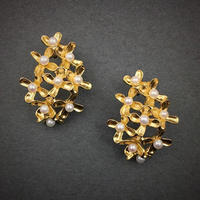 Osmanthus earring M-size(18KGP) 金木犀ピアス Mサイズ(18KGP)