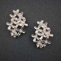 Osmanthus earring (ear clips type) M-size(SV) 金木犀イヤリング Mサイズ(SV)