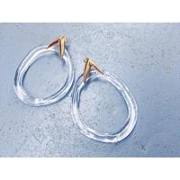 Clear Oval Charm Earrings【セット商品】