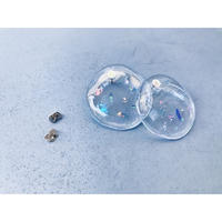 Glitter Disk Earrings