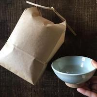 【アキコラセット1】樫食堂「新米(白米or玄米)」×三温窯・佐藤幸穂「飯碗」1個セット