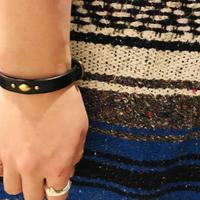 栃木レザーニッピヌメ革 single bracelet