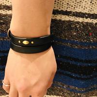 栃木レザーニッピヌメ革 double bracelet