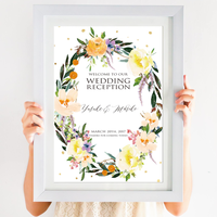 【ウェルカムボード】flower wreath(A3)