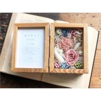 【両親贈呈品】フラワーボックス : coral pink