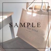 《SAMPLE》【トートバッグ】ジュート /4 design