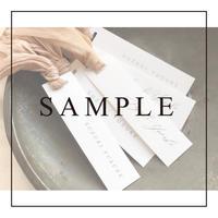 《SAMPLE》【席札】タグ