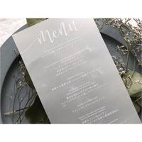 【メニュー表】ホワイトインク 1部180円/9 design
