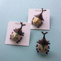 """カブトムシのピンズ Pin Brooch """"Beetle"""""""