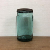 缶蓋のブルー瓶