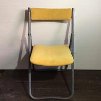 コーデュロイの折りたたみ椅子