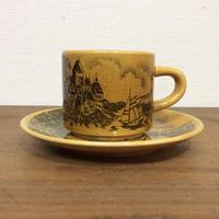 風景画のカップ&ソーサー