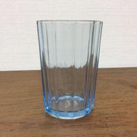 水色のガラスコップ
