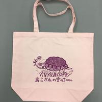 No.29 カメ柄/ピンク地/紫色プリント/Lサイズ