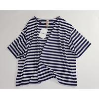 Tシャツ 青太縞