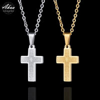 Cross necklace stainless steel №70
