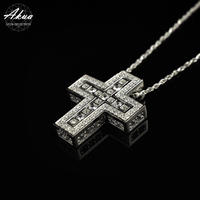 S925 separate cross necklace silver No.40