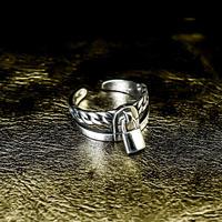 silver 925  padlock ring №58