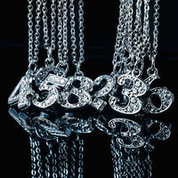 Number necklace silver(1ケタ)