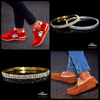 Zirconia anklet gold or silver №14