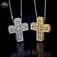 S925 22KGP separate cross necklace No.1