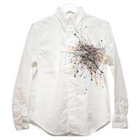 Splash paint button down shirt  / pocket