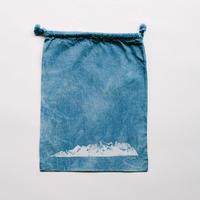 INDIGO 巾着Mサイズ Ridge NO.3