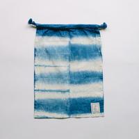 INDIGO 巾着Mサイズ 絞り染め NO.2
