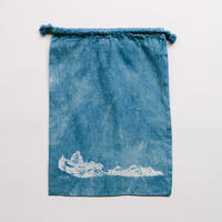 INDIGO 巾着Mサイズ Ridge NO.5