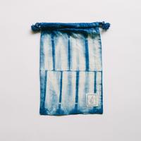 INDIGO 巾着Sサイズ 絞り染め NO.2