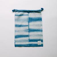 INDIGO 巾着Mサイズ 絞り染め NO.3