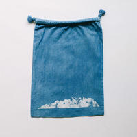 INDIGO 巾着Mサイズ Ridge NO.1