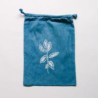 NDIGO 巾着Mサイズ / 草木 NO.7