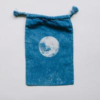INDIGO 巾着Sサイズ /MOON  NO.4