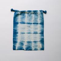 INDIGO 巾着Mサイズ 絞り染め NO.1