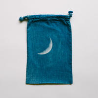 INDIGO 巾着Sサイズ /MOON  NO.7