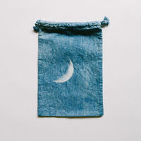 INDIGO 巾着Sサイズ /MOON  NO.5