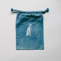 INDIGO 巾着Sサイズ / Penguin NO.10