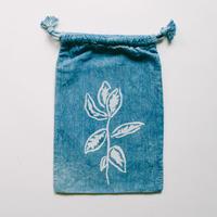 INDIGO 巾着Sサイズ / 草木 NO.11