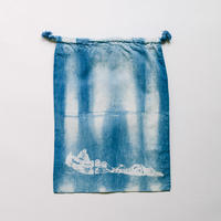 INDIGO 巾着Mサイズ Ridge NO.4